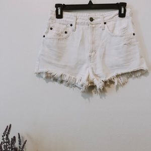 LF high rise denim shorts
